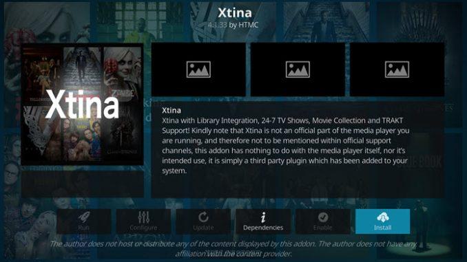 Xtina Addon Guide - Kodi Reviews