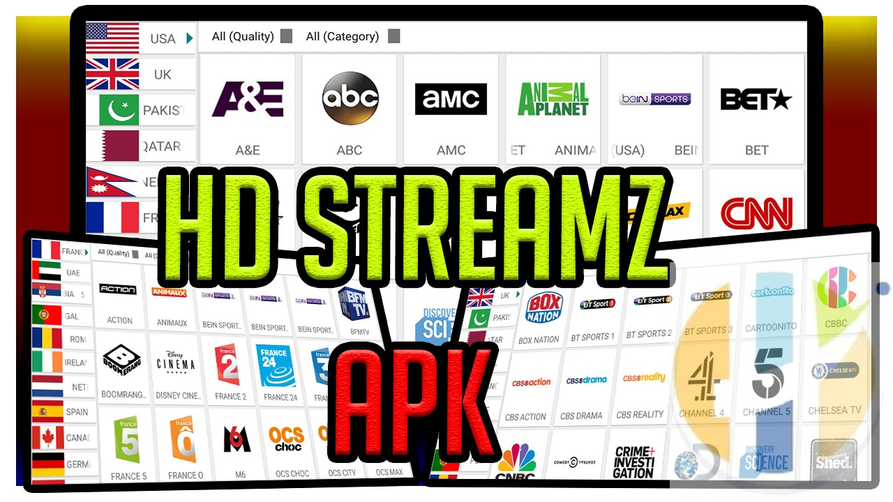 HD Streamz 3 2 4 600+ live TV for Android Firestick NVIDIA Shield
