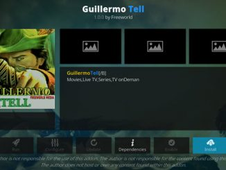 Guillermo Tell Addon Guide - Kodi Reviews