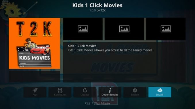 Kids1 Click Movies Add-on Guide