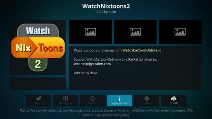 Watch NixToons 2 Addon Guide