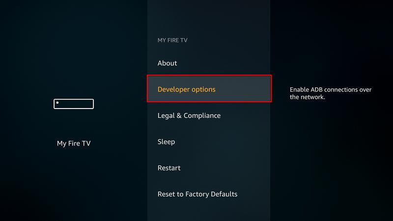 Developer options Firestick