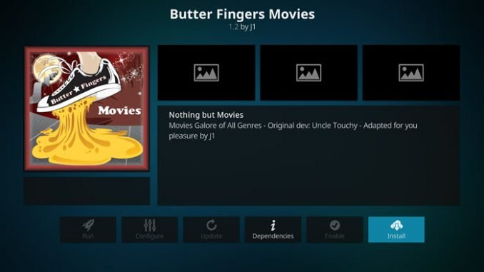 Butter Fingers Movies Addon Guide