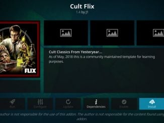 Cult Flix Addon Guide - Kodi Reviews