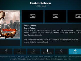 Kratos Reborn Addon Guide - Kodi Reviews