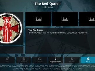 Red Queen Addon Guide - Kodi Reviews