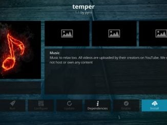 Temper Music Addon Guide - Kodi Reviews