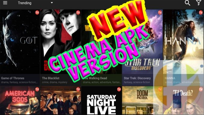 Cinema APK Movies TV Shows Free Streaming firestick android nvidia