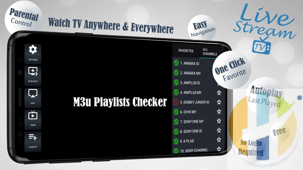 Livestream TV APK - M3U Stream Player IPTV - Husham com APK