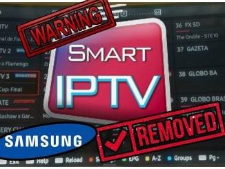 Smart IPTV Removed by Samsung