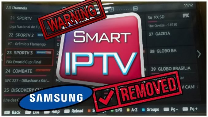 Smart IPTV Removed by Samsung