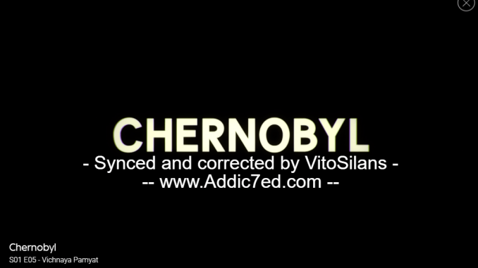 Sky Streaming Service Uses 'Pirate' Subtitles on Chernobyl Episode
