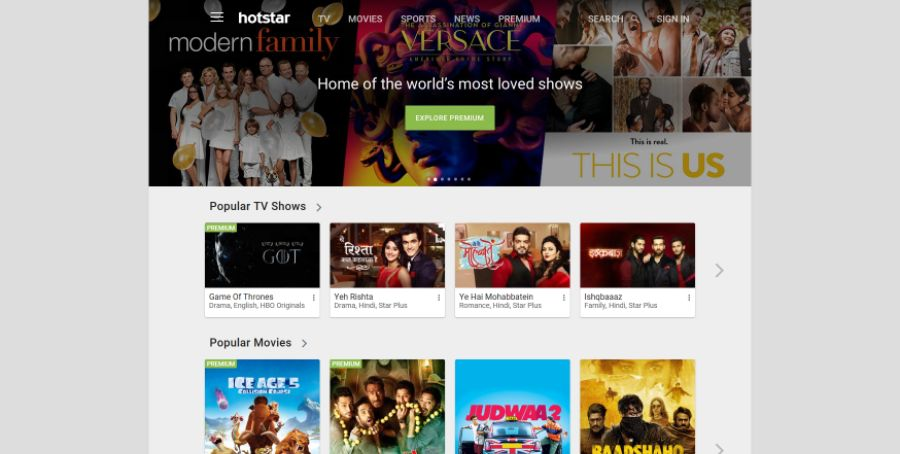 Best Streaming Services in India 3 Hotstar
