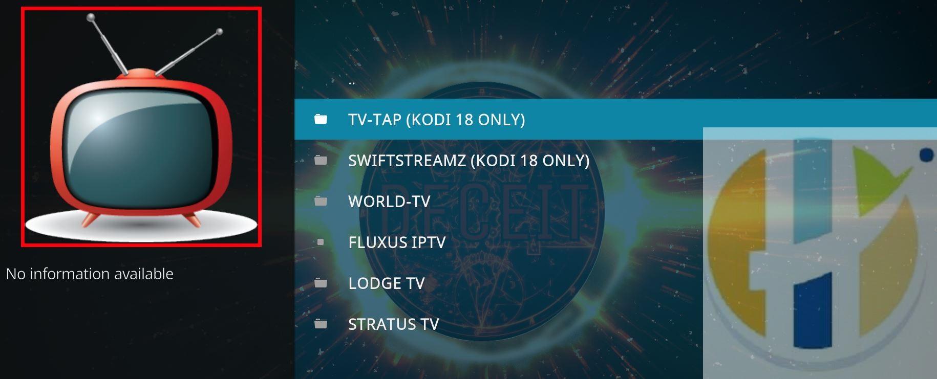 DECEIT Addon KODI 18 - IPTV Movies TV Shows - Husham com Kodi Addons
