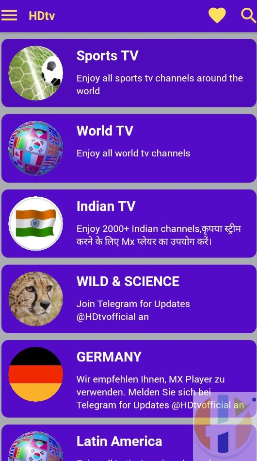 New HDTV IPTV APK World Channels Avaliable for Firestick, NVidia