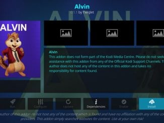 how to install alvin addon on kodi