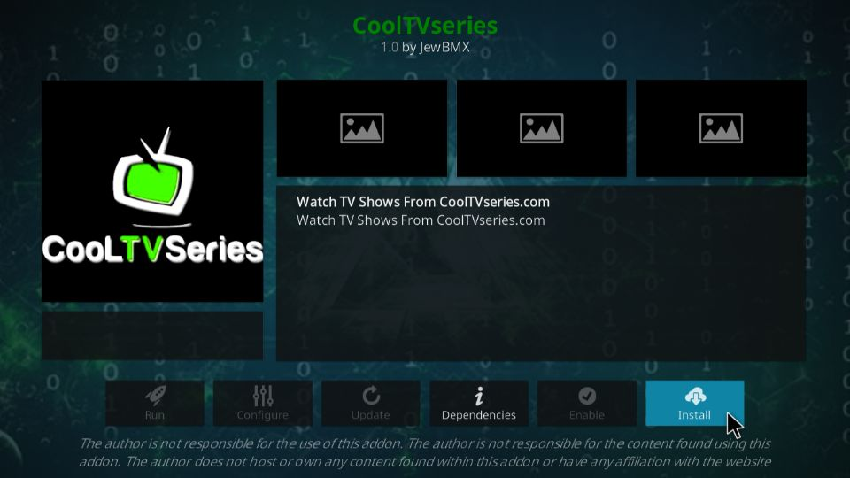 steps to install cooltvseries addon on kodi