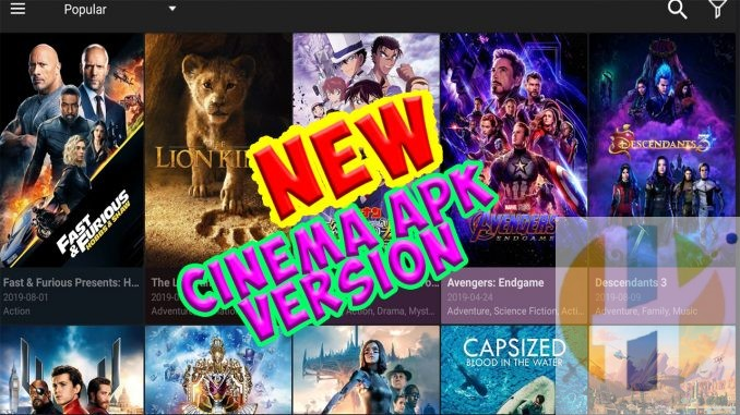 Cinema APK gets a new update v2 0 8 Update works for Android