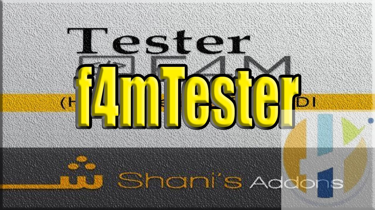f4mTester KODI 18 Add-on Guide - Husham com - Husham com