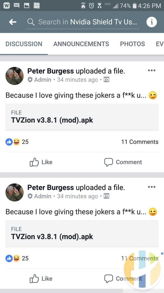 TVZION Attack MOD