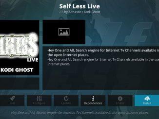 how to install selfless live addon on kodi
