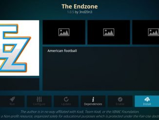 how to install the endzone addon on kodi