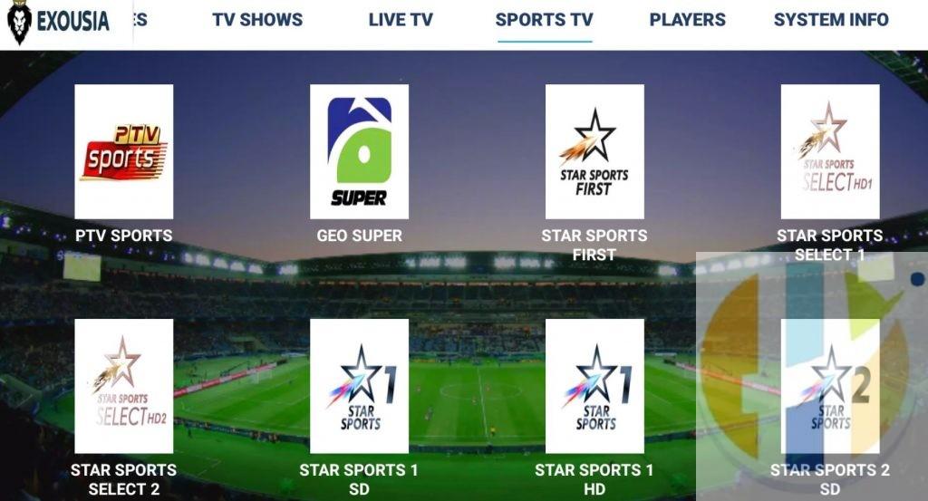 Exousia IPTV APK Sports
