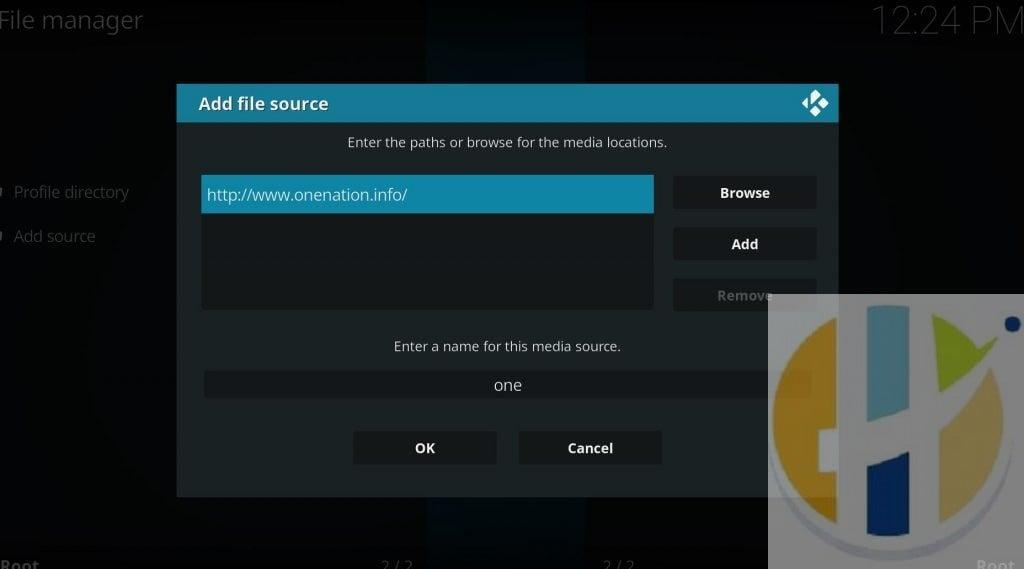 kodi add file srouce