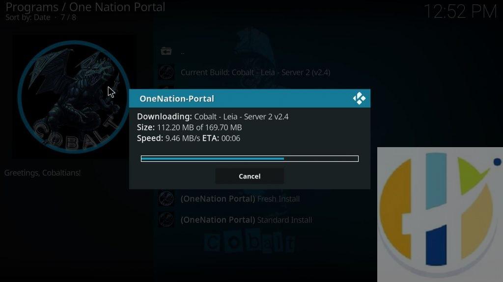 one nation cobalt download time