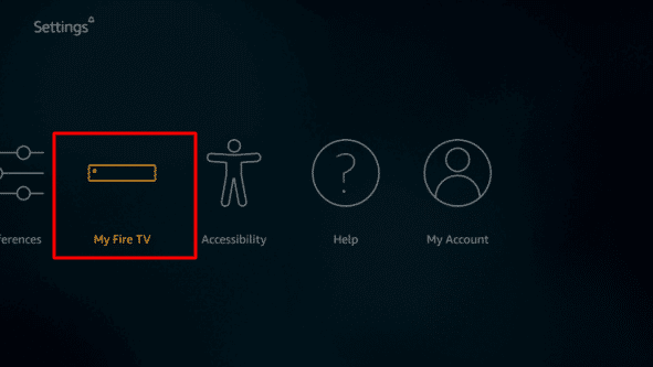 Click My Fire TV option