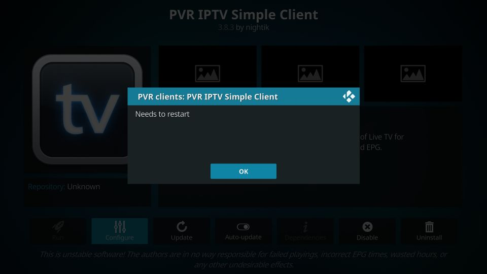 pvr iptv simple client kodi addon