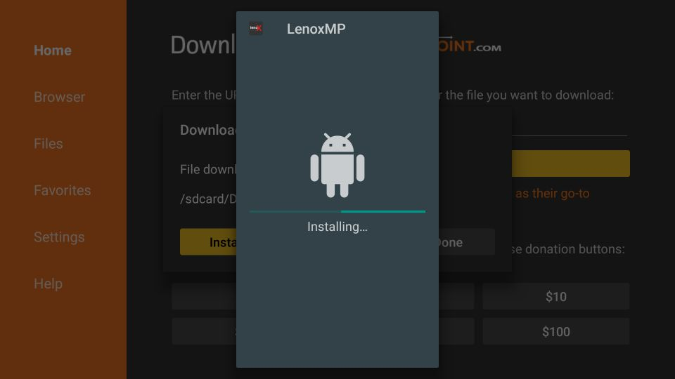 how to install expedite tv from lenoxmp