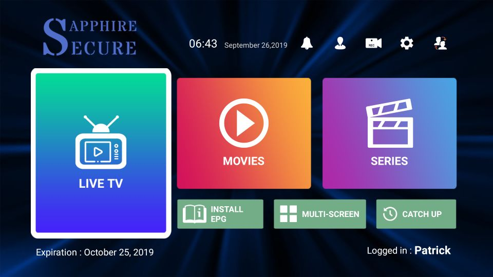 sapphire secure iptv for Firestick