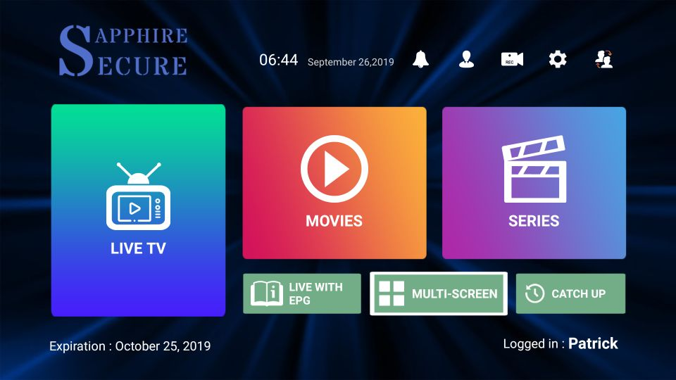 download sapphire secure iptv on Firestick