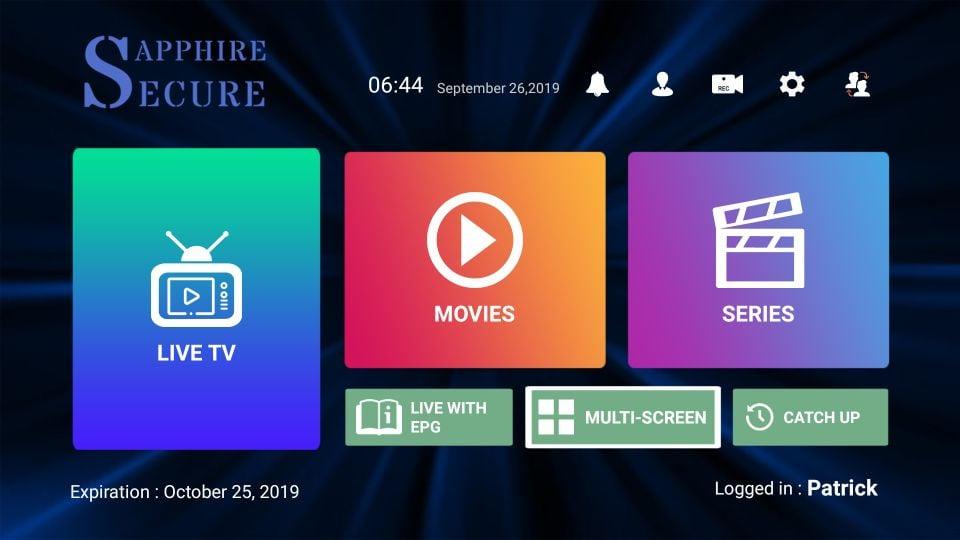 download sapphire secure iptv on Firestick