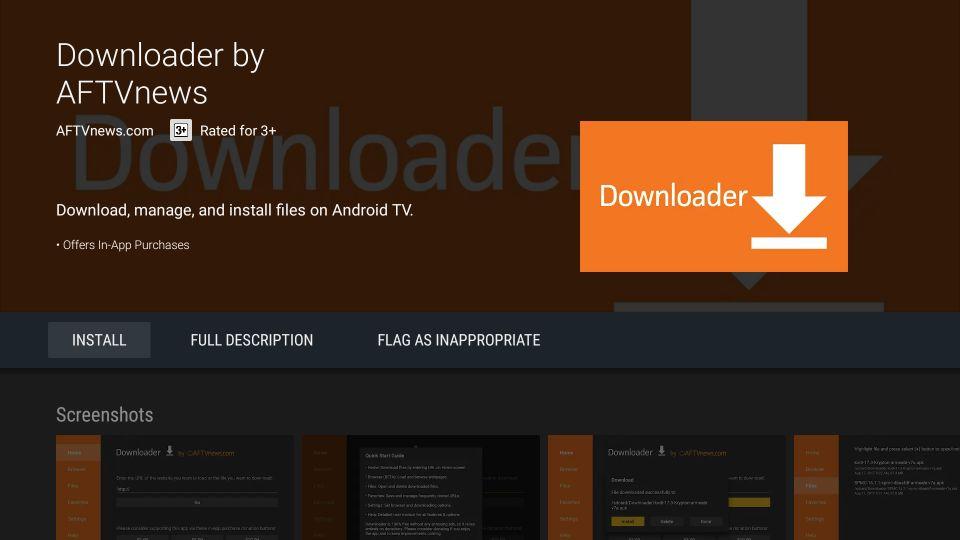 install downloader on android tv