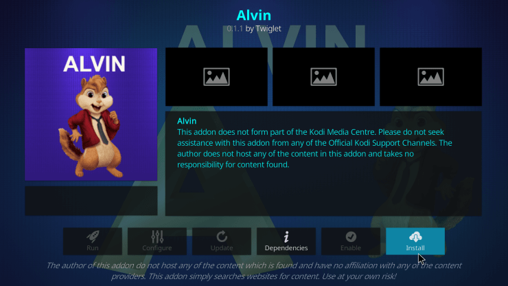 Alvin Kodi Addon
