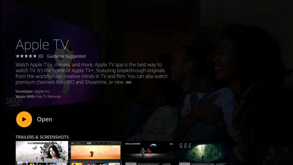 install apple tv on fire stick