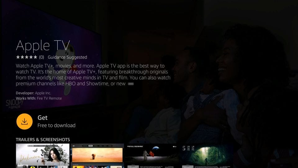 download apple tv on Firestick