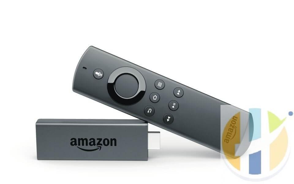 picture of amazon fire stick kodi box and remote