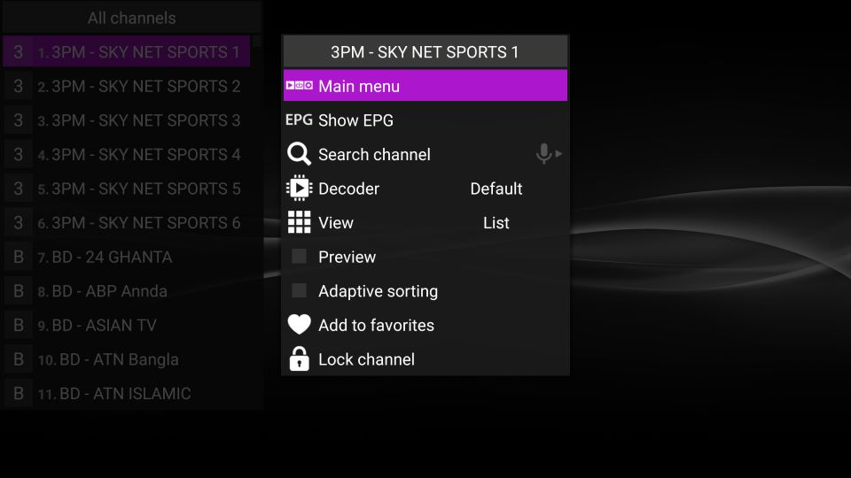 steps to install perfect player iptv