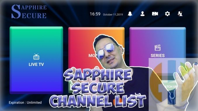 Sapphire Secure IPTV Channel list with VOD and XXL channels