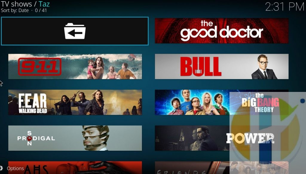 Taz KODI Addon Movies TV shows Adndoir WIndows PC Firestick NVIDIA Shield