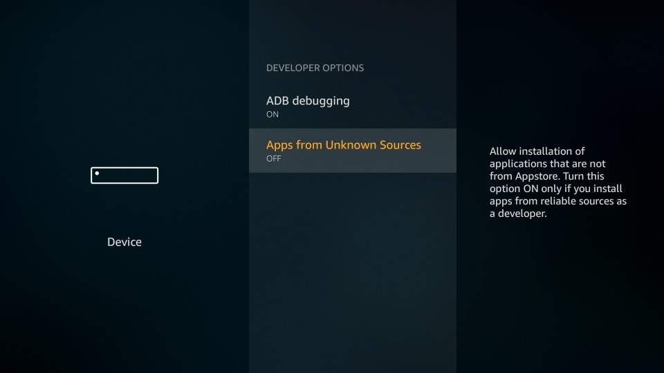 apps from unknown sources on fire stick