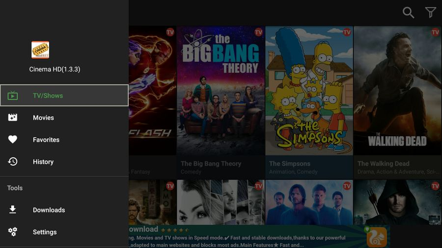 how to use cinema apk on firestick