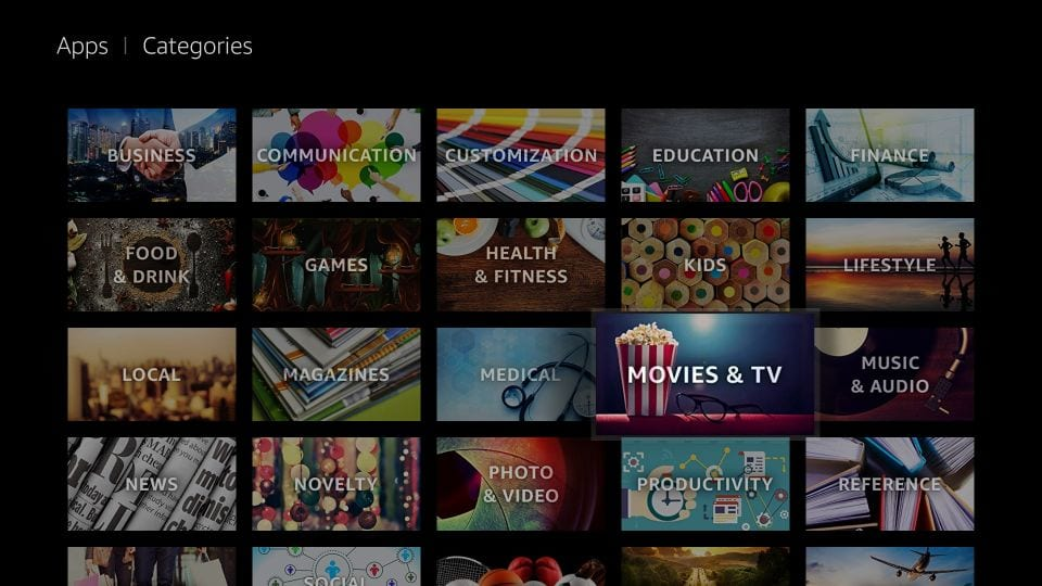 fire tv channels for movies and tv