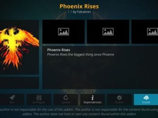 how to install phoenix rises kodi addon