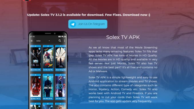 Solex TV App
