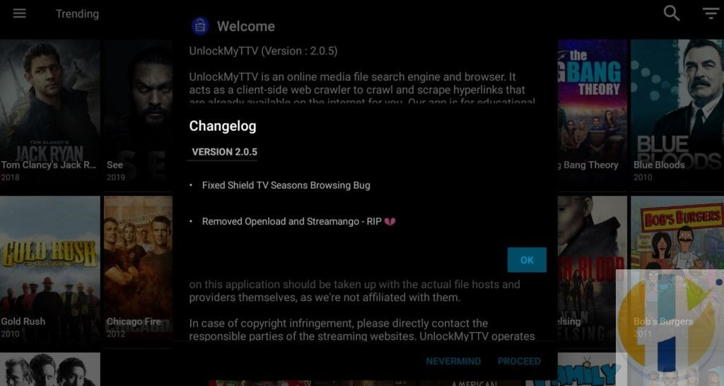 Unlockmyttv APK removed open load and streamango