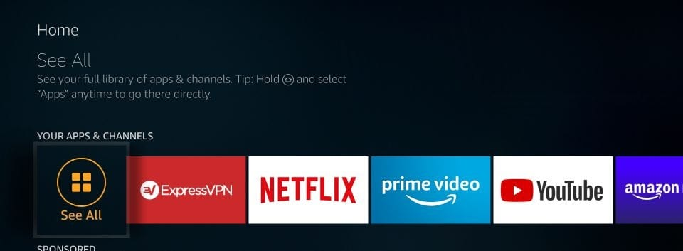 how to find installed app on firestick